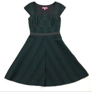 Betsey Johnson Green and Black Textured Dress